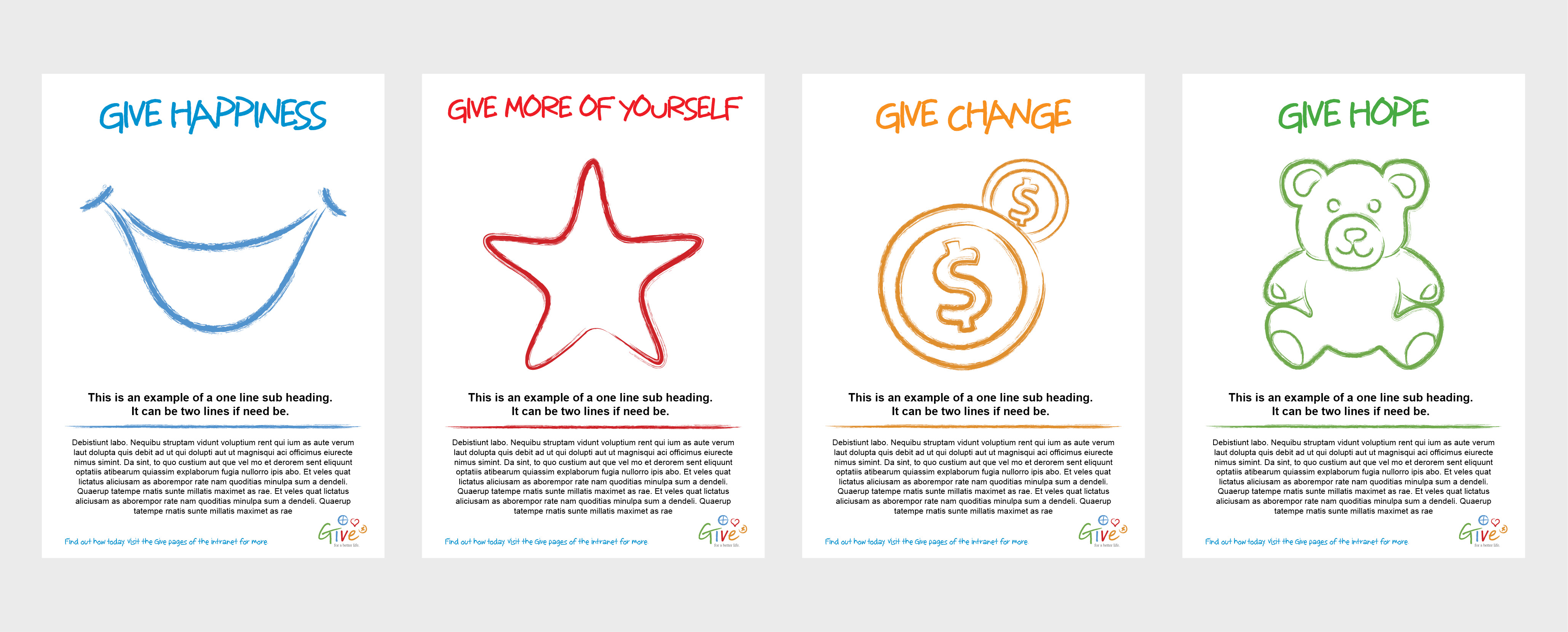 Bayer Give Program - poster mockups