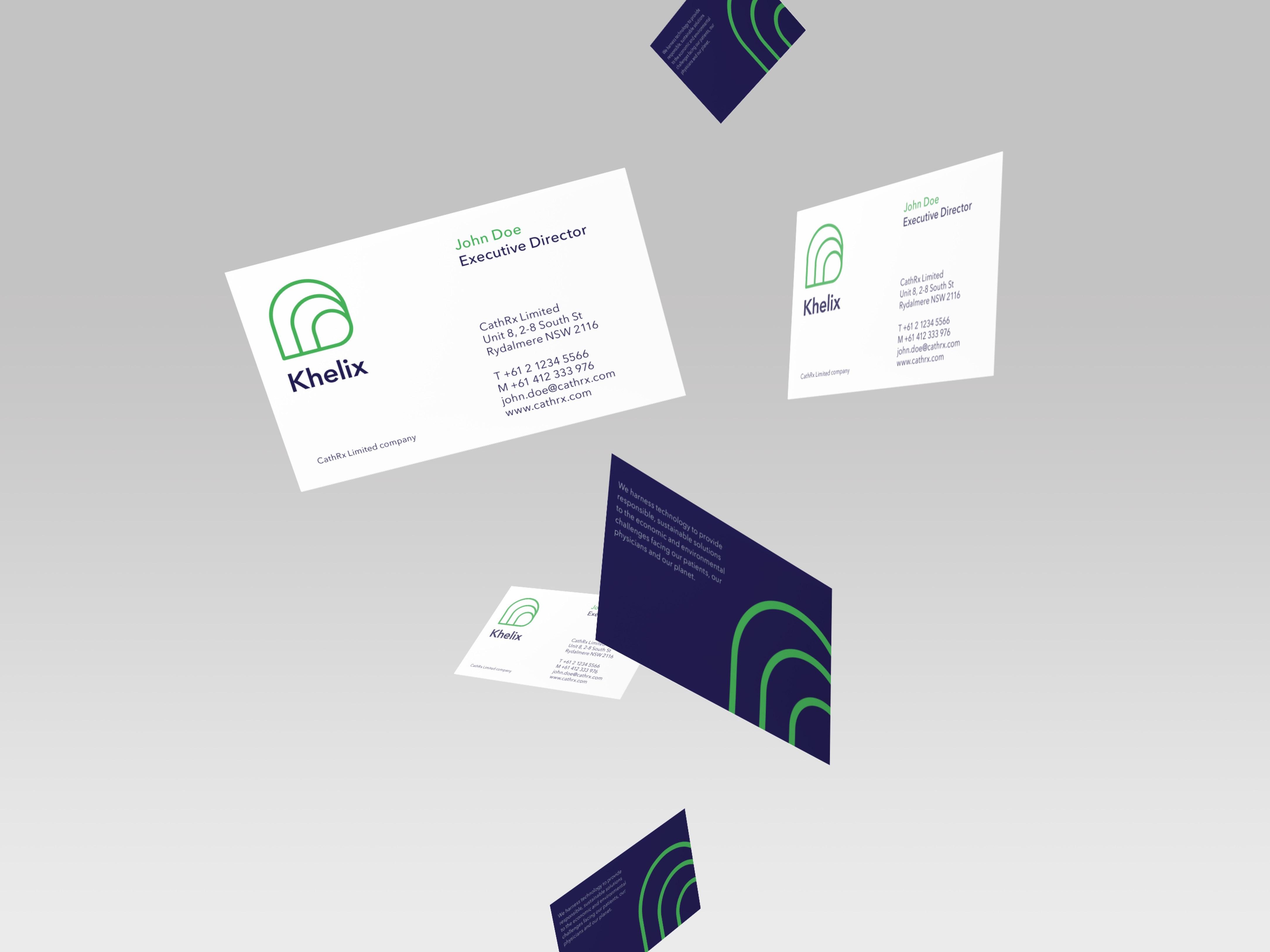 Khelix business cards