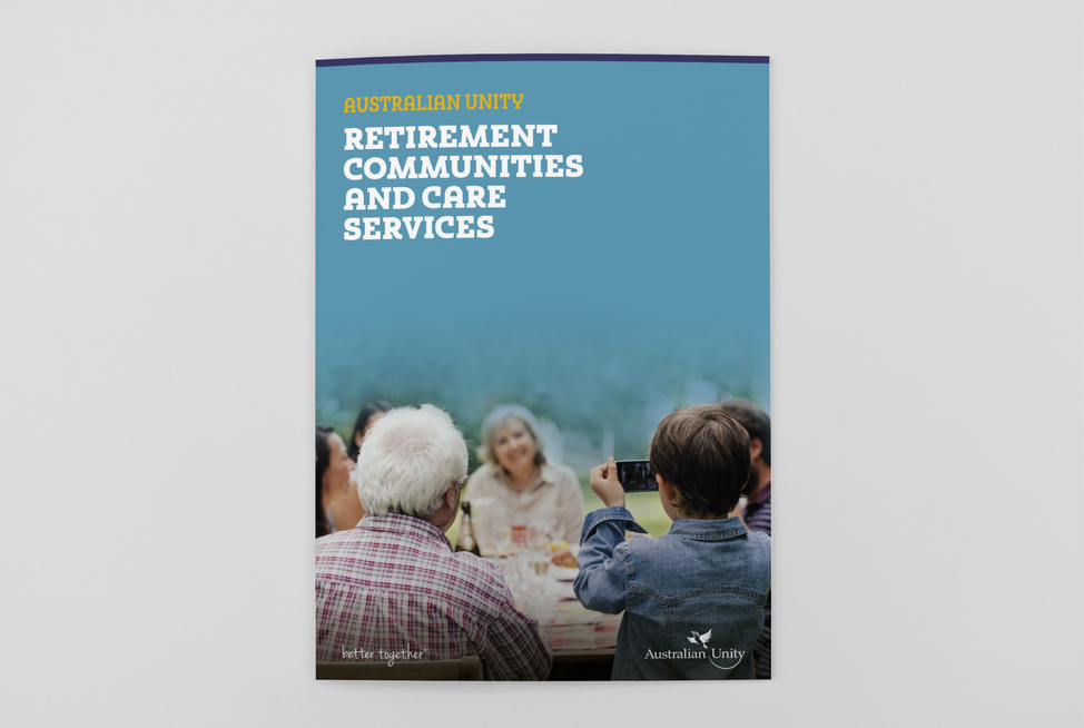 Australian Unity Retirement Services Village Brochure (cover)