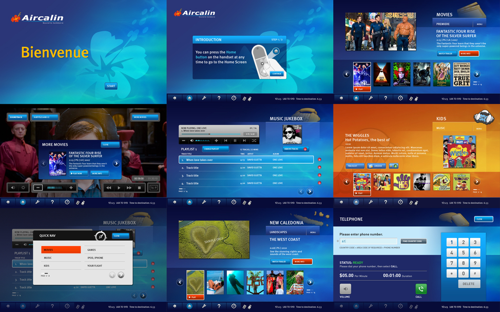 ACI IFE GUI screen designs