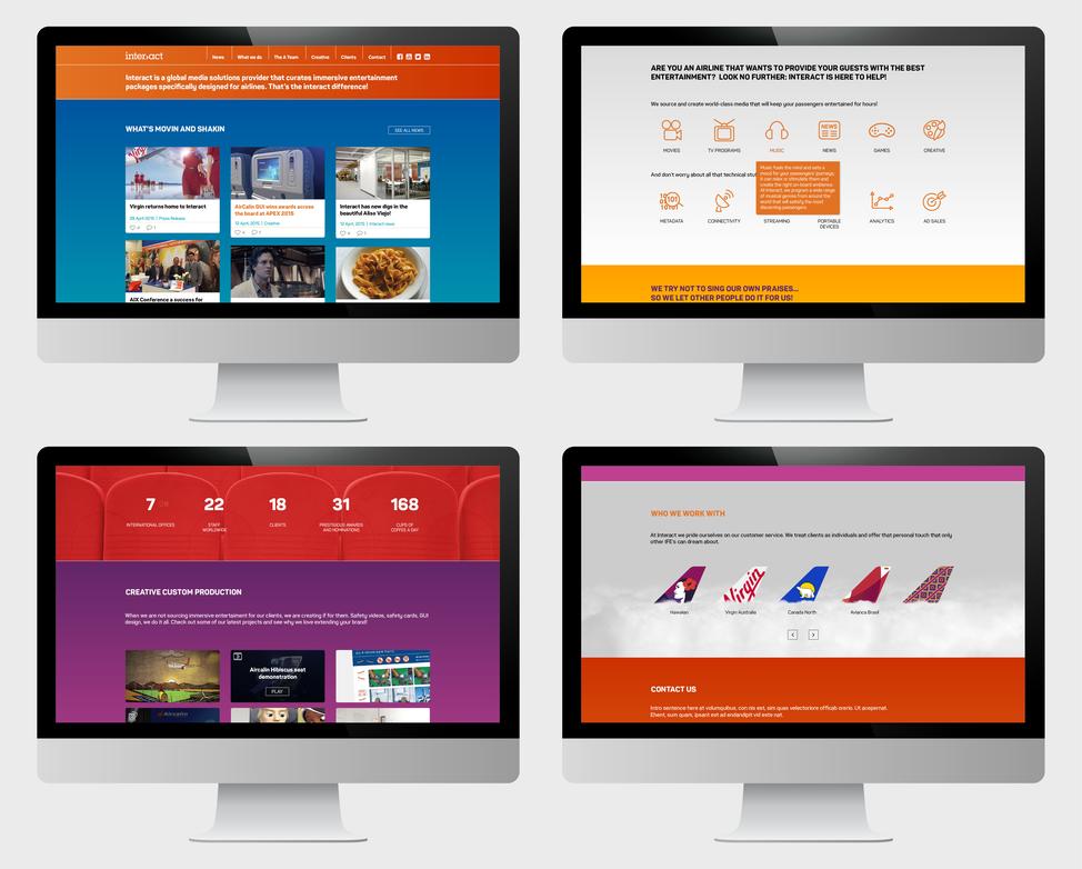 Interact branding - website desktop