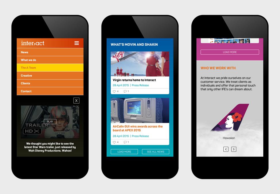 Interact branding - website mobile