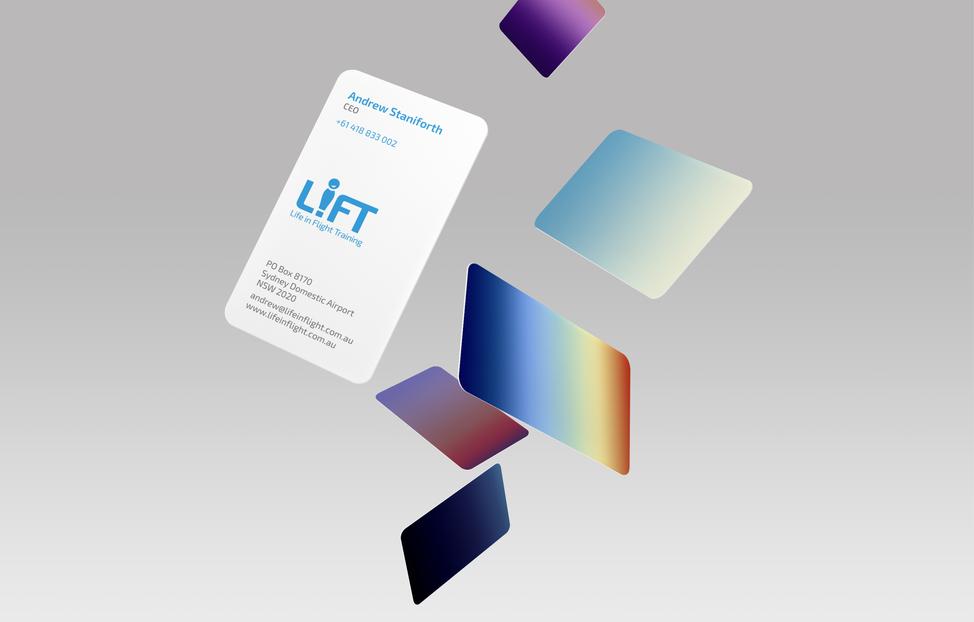 LIFT branding business cards