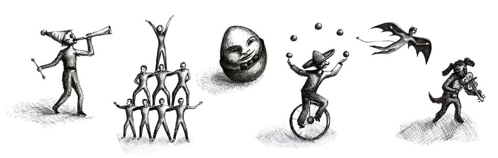 Mezmerize Productions website illustrations by Sarah Lyttle