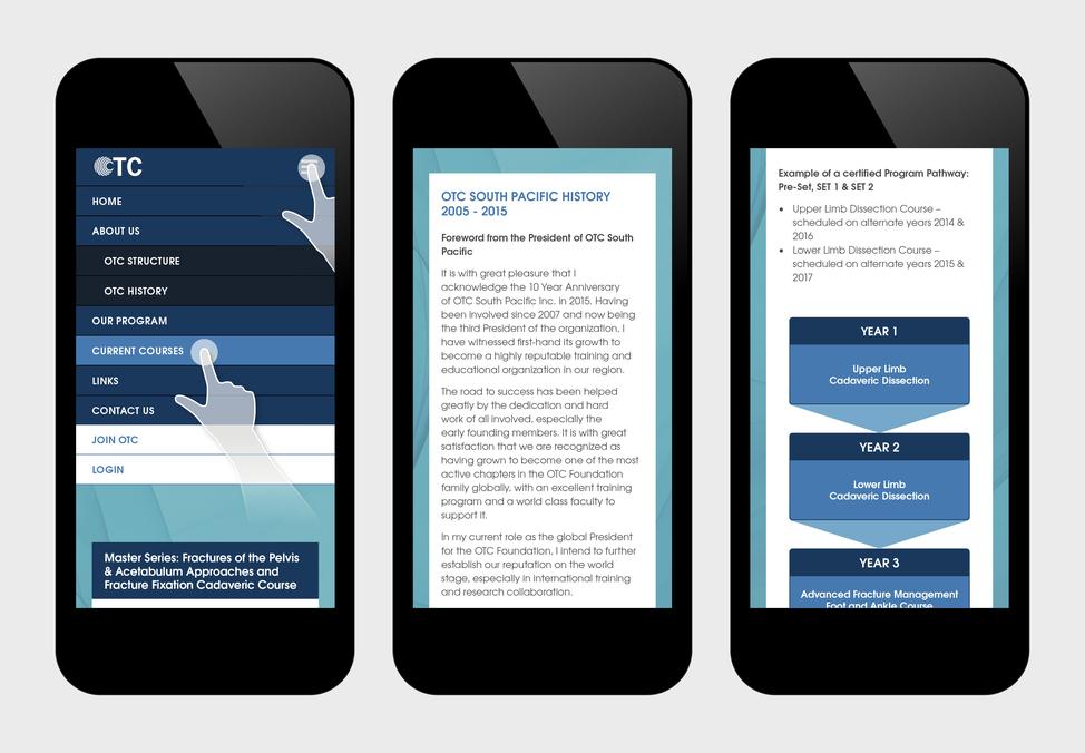 OTC website responsive views