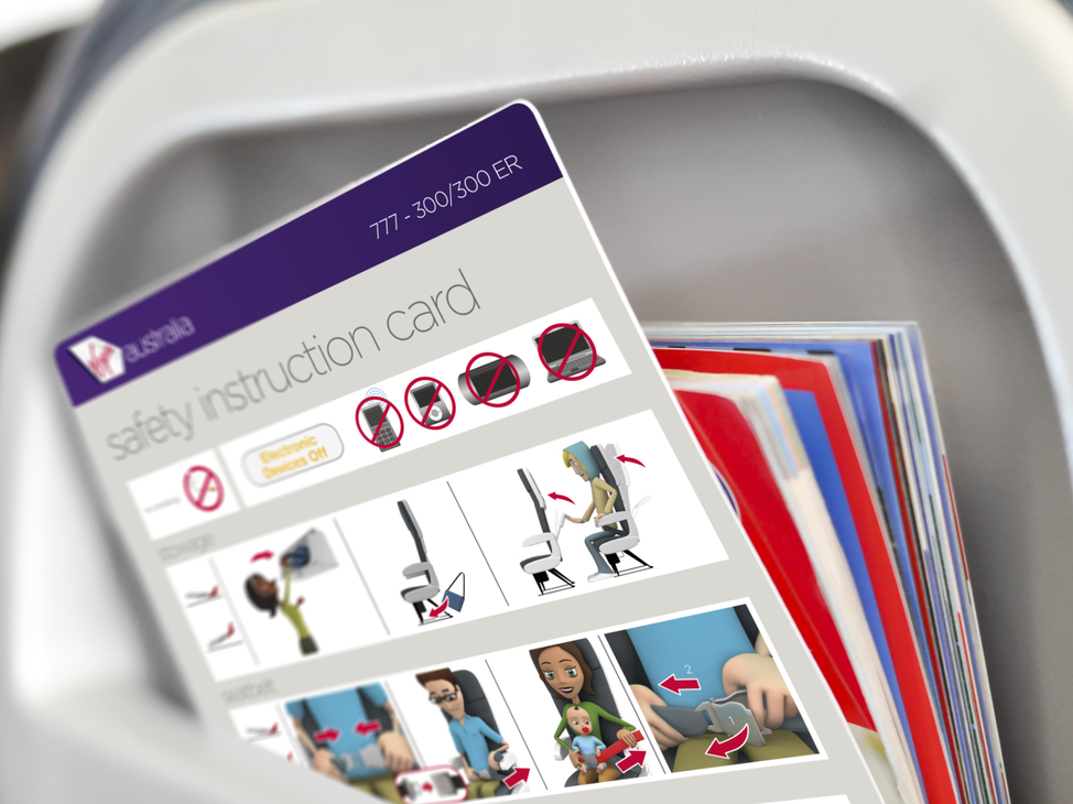 Virgin Australia 777-300 Safety Card